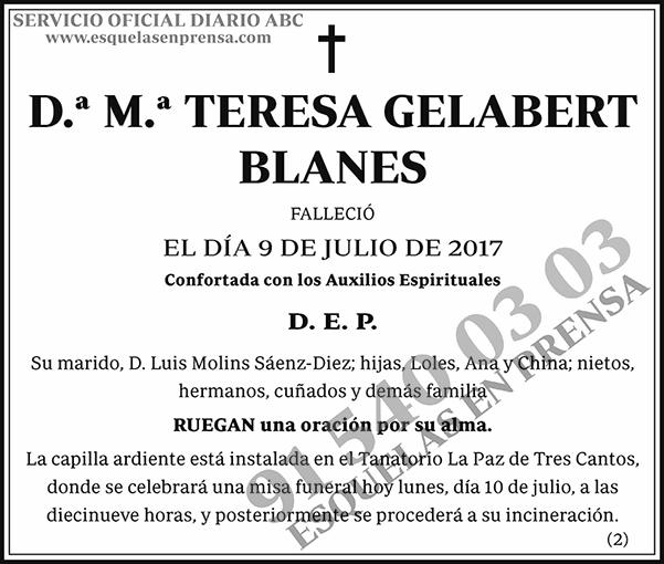 M.ª Teresa Gelabert Blanes